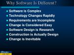 why software is different