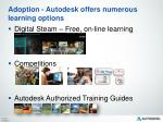 adoption autodesk offers numerous learning options