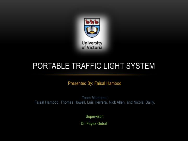 portable traffic light system n.