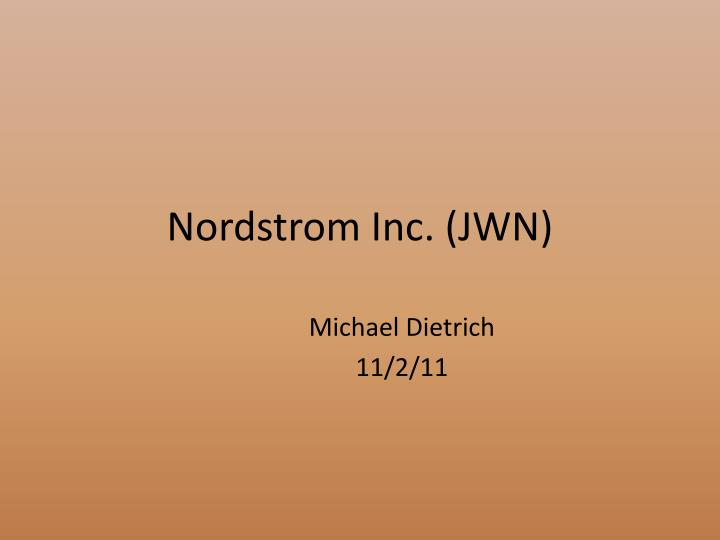 nordstrom strategic management Inventory management nordstrom's retailers throughout the country have been ridiculed for it's out dated inventory system accenture, an outsourcing management company is collaborating with nordstrom on one of the company's top strategic initiatives, continuous inventory system.