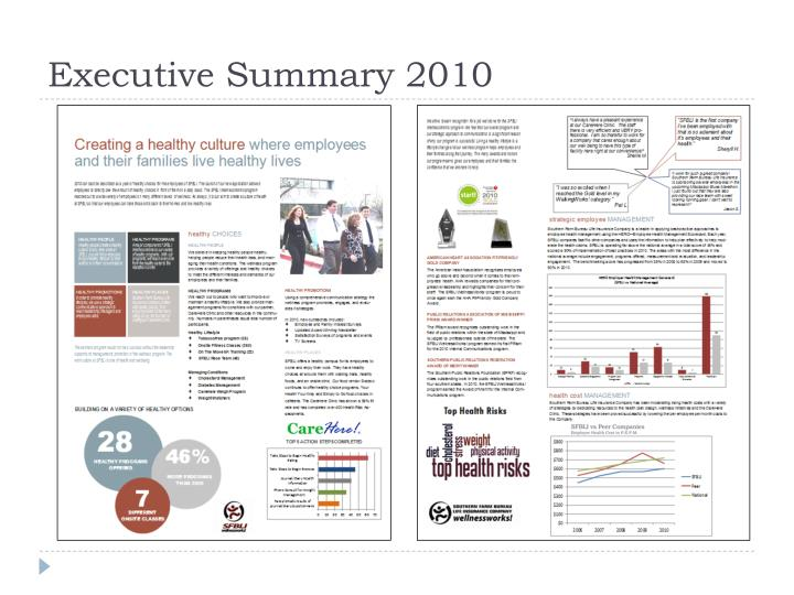 Executive Summary 2010