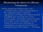 maximizing the assets of a diverse community1