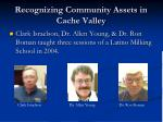 recognizing community assets in cache valley