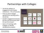 partnerships with colleges