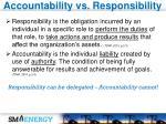 accountability vs responsibility