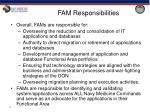 fam responsibilities