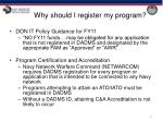 why should i register my program1