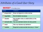 attributes of a good user story