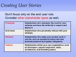 creating user stories