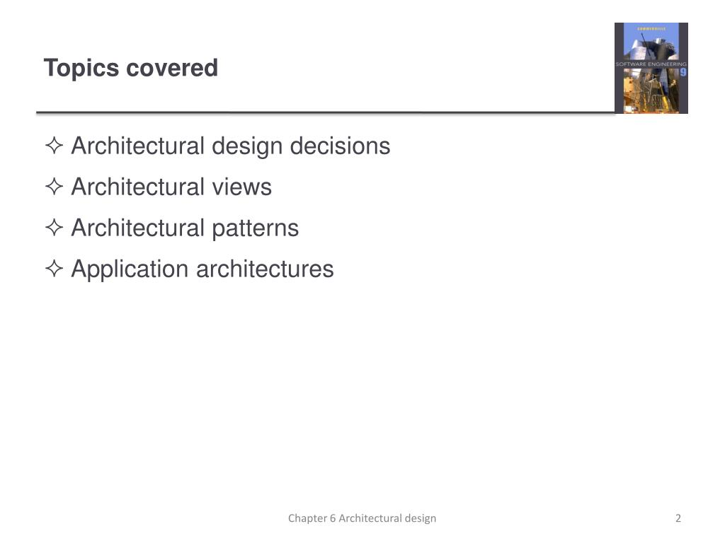 Ppt Chapter 6 Architectural Design Powerpoint Presentation Free Download Id 1659331