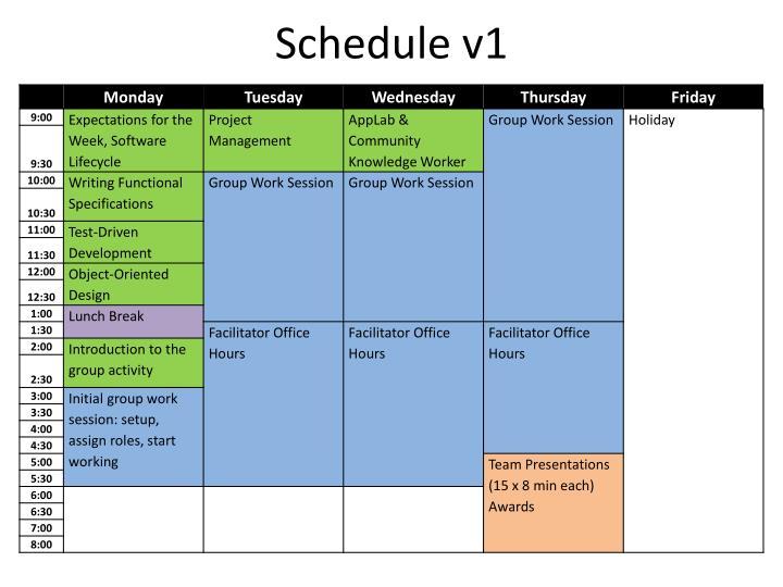 Schedule v1