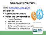 community programs1