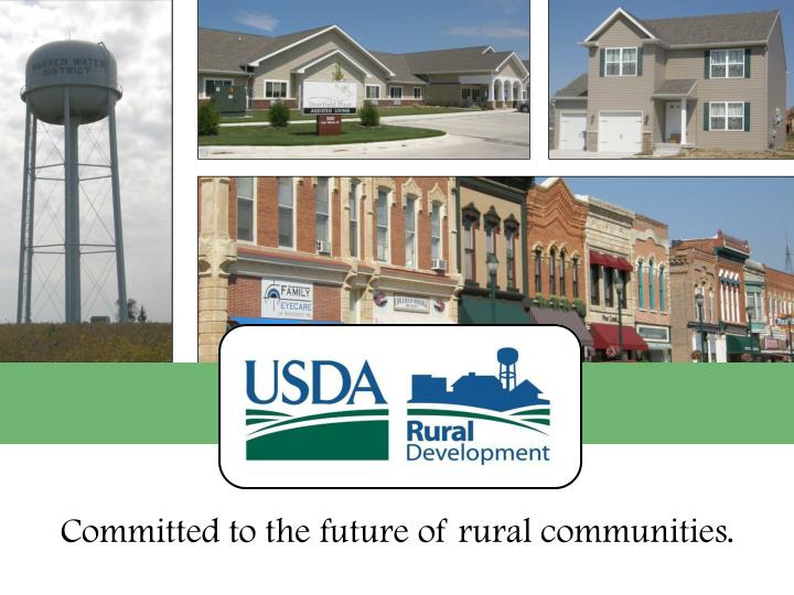 Usda rural development water environmental programs iowa rural water association annual conference february 2013