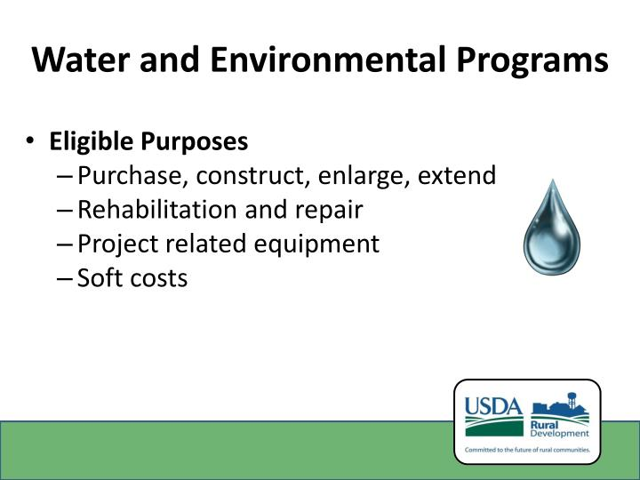 Water and Environmental Programs