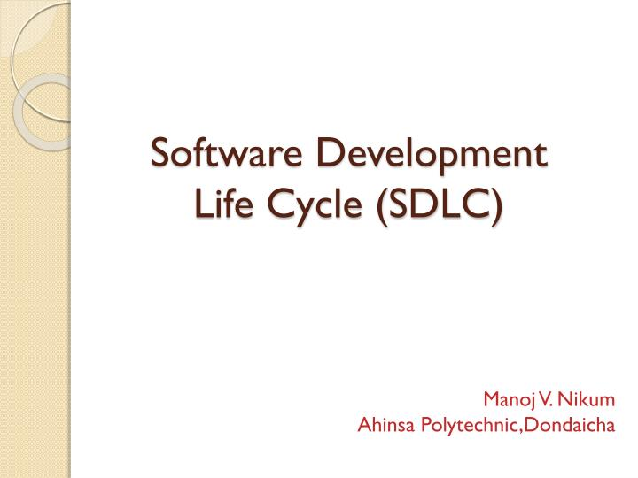 software development life cycle sdlc n.