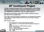 mt continuum project