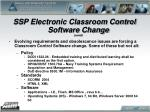 ssp electronic classroom control software change contd