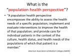 what is the population health perspective