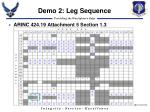 demo 2 leg sequence
