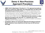 demo 4 non precision approach procedure