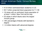 african american facts census bureau 2009