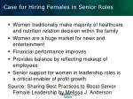 case for hiring females in senior roles