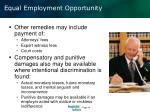 equal employment opportunity1