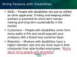 hiring persons with disabilities
