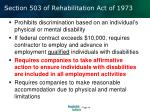 section 503 of rehabilitation act of 1973