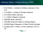 veteran facts census bureau 2009