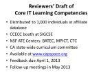 reviewers draft of core it learning competencies