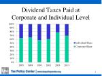dividend taxes paid at corporate and individual level