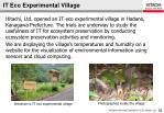 it eco experimental village