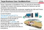 target business case geomation farm