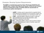 example develop system requirements