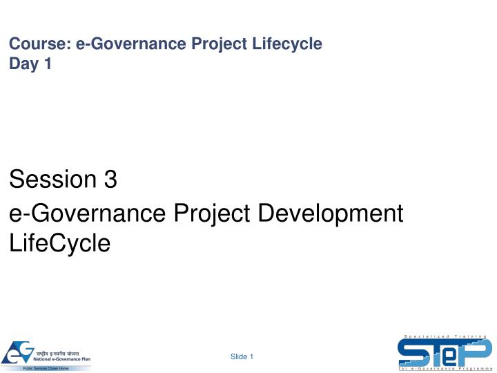 course e governance project lifecycle day 1 n.