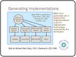 generating implementations