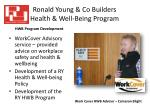 ronald young co builders health well being program