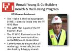 ronald young co builders health well being program1