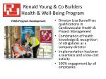 ronald young co builders health well being program2
