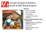 ronald young co builders health well being program4