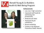 ronald young co builders health well being program6