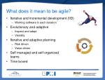 what does it mean to be agile