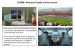 ipaws american people on line c ourse