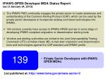 ipaws open developer moa status report as of january 24 2013