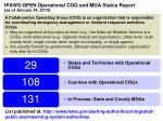 ipaws open operational cog and moa status report as of january 24 2013