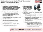 wireless emergency alerts wea commercial mobile alert system cmas