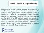 hrm tasks in operations