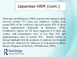 japanese hrm cont