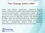 the change within hrm